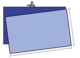 rettangoli di cotone 25x15cm